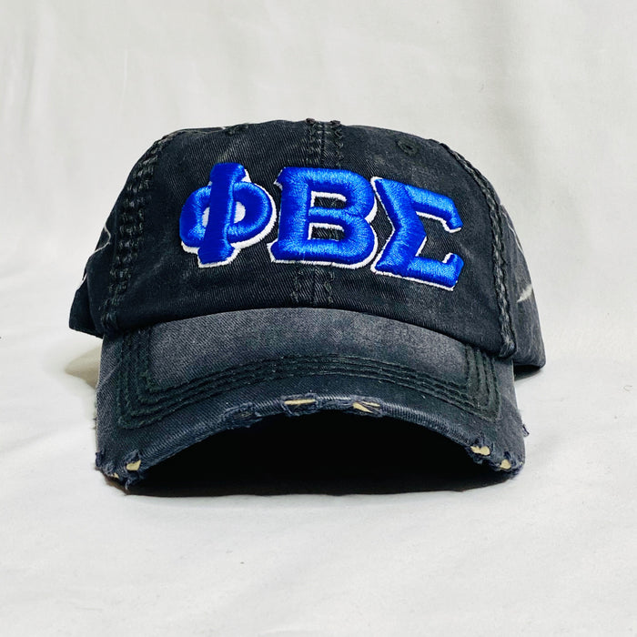 Black Denim Phi Beta Sigma dad hat