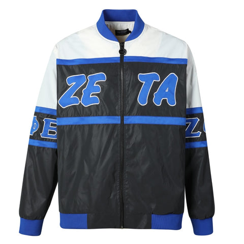 ZPB Black 3M Reflective Bomber Jacket