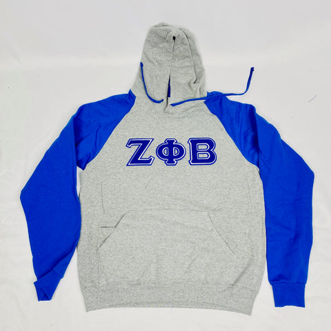 Grey Zeta Phi Beta Pocket Hoodie