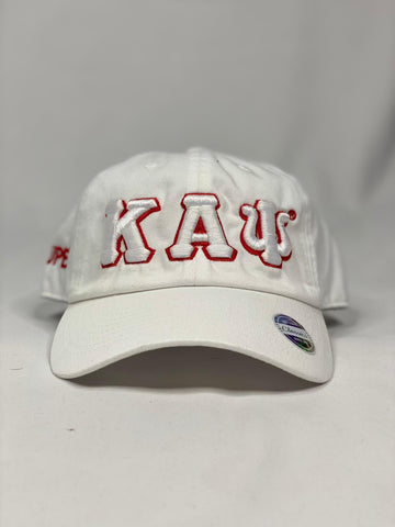 Kappa Alpha Psi White dad hat