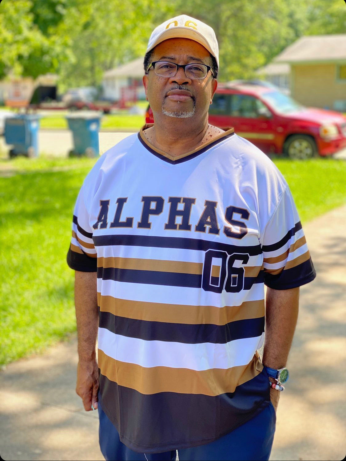 Alpha Phi Alpha Stripped Baseball Jersey