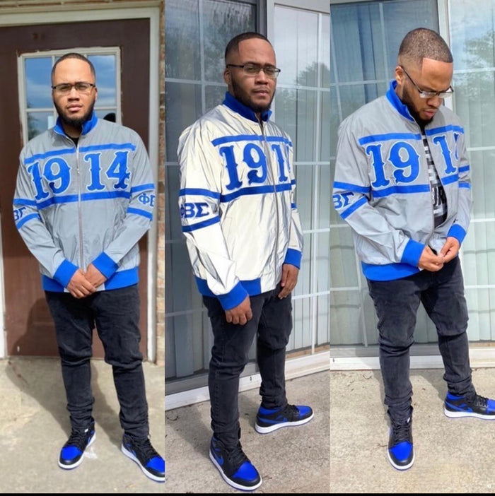 Phi Beta Sigma Reflective Bomber Jacket