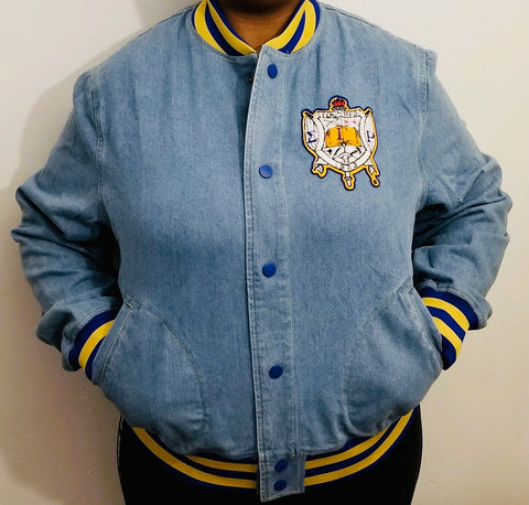 SGRho Denim Bomber Jacket Read Description