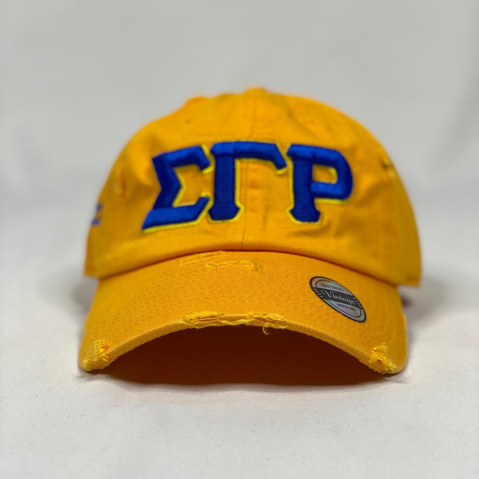 Sigma Gamma Rho Gold Hat