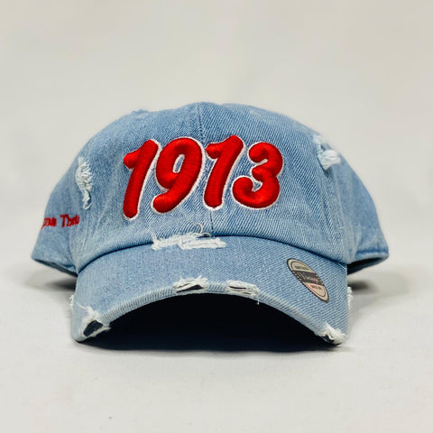 Delta Sigma Theta 1913 Light Denim Hat
