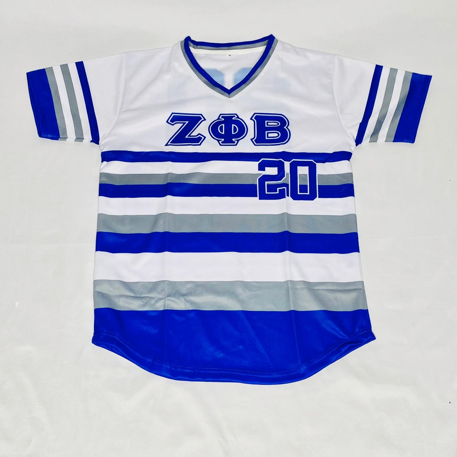 Zeta Phi Beta Striped Baseball Jersey