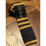 Black and Old Gold (Alpha Inspired) Knit Tie