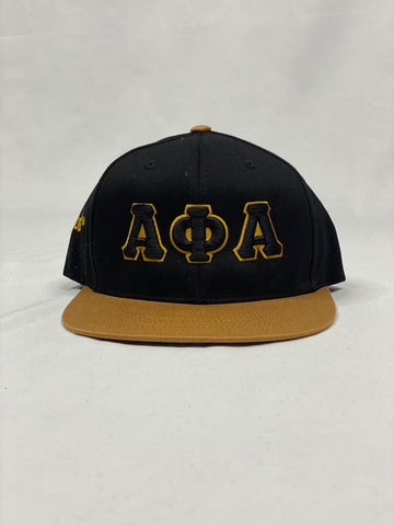 Alpha Black and Gold SnapBack Hat
