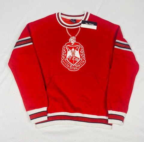 DST Red Crest Chenille Crewneck