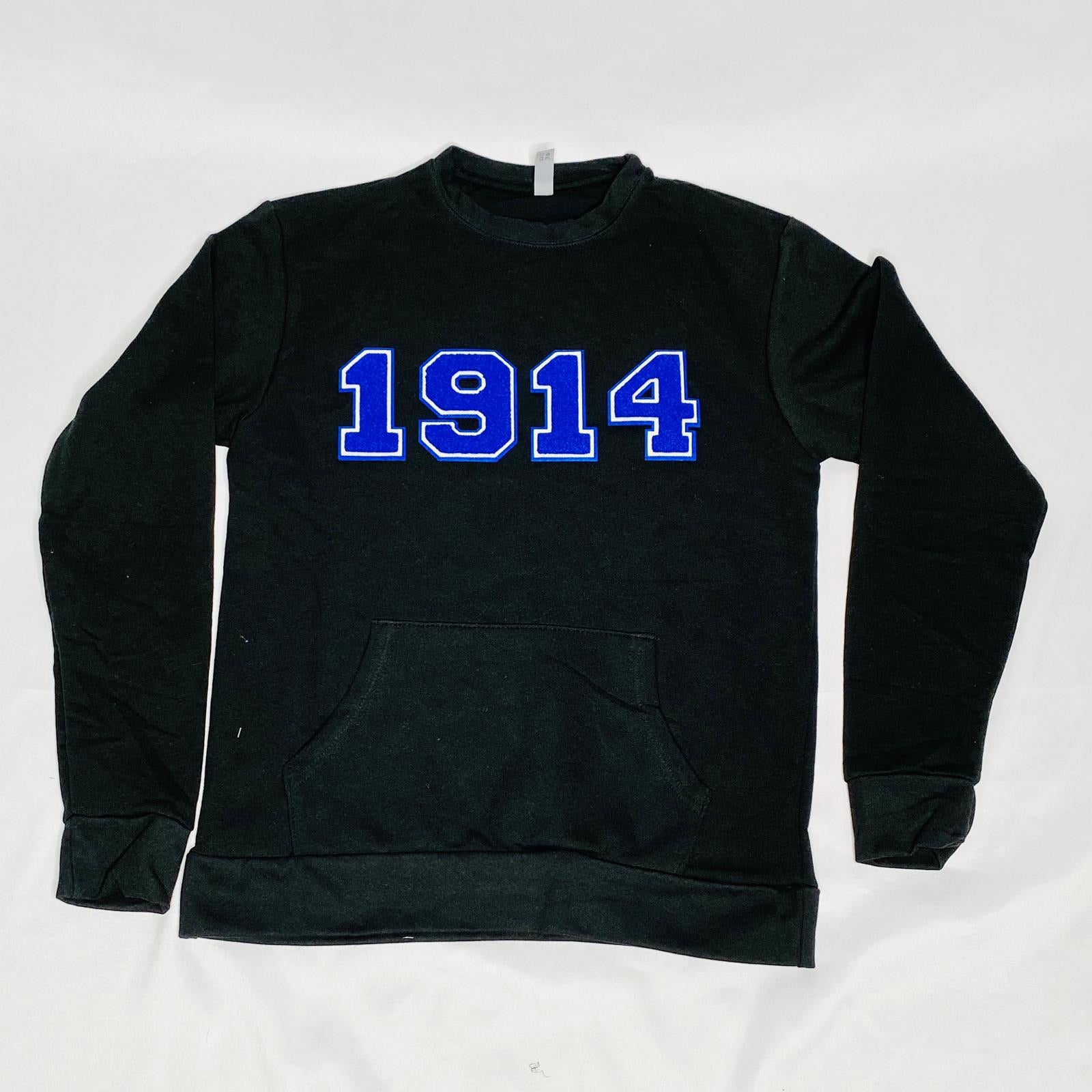 1914 Black Phi Beta Sigma Pocket Crewneck