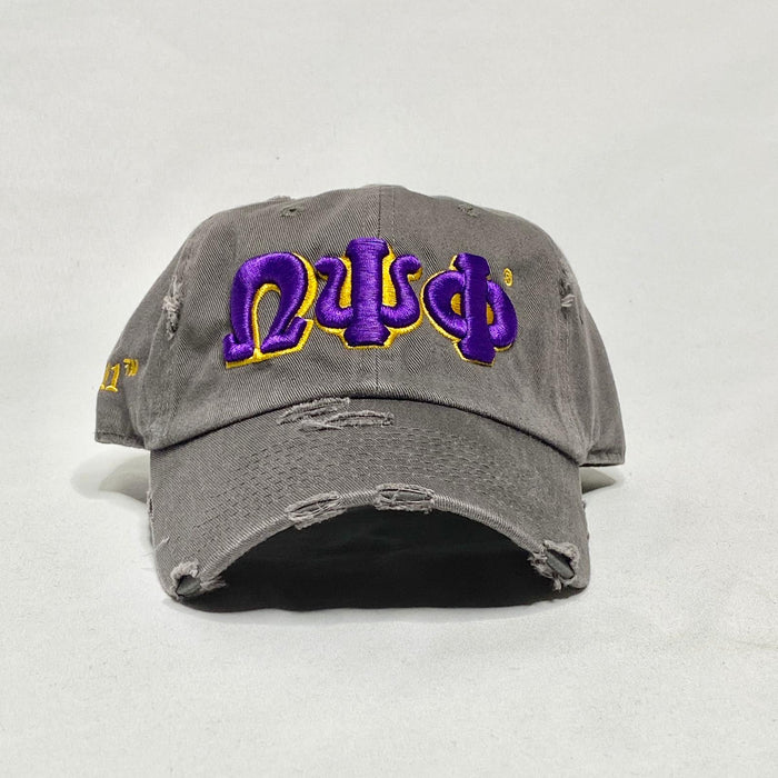 Grey Omega Psi Phi dad hat