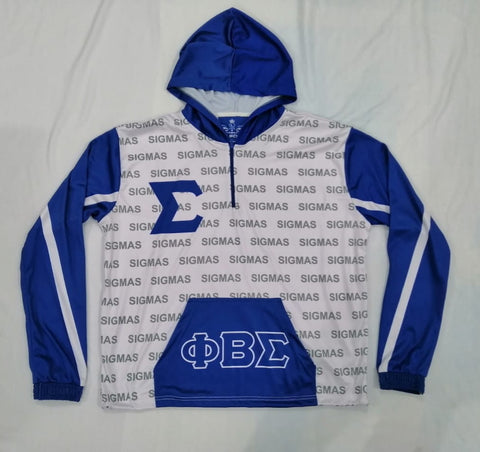 Phi Beta Sigma Half Zip Lightweight Jacket