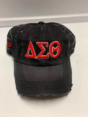 Delta Sigma Theta Black Denim Hat