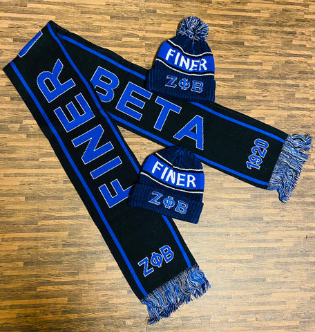 Zeta Finer Women Black Scarf and One Hat