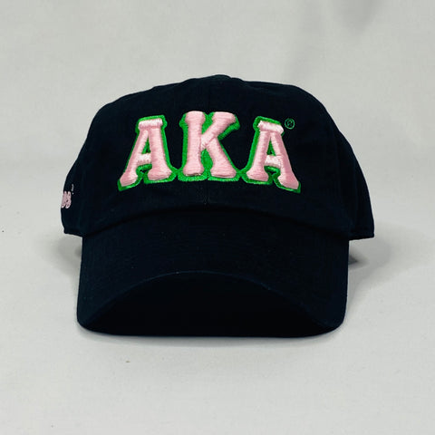 AKA Black Non Distressed Hat