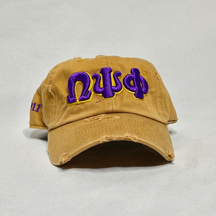 Gold Omega Psi Phi dad hat