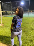 Zeta Phi Beta Black Baseball Jersey