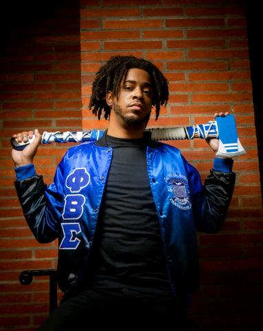 Black Faded Phi Beta Sigma Bomber Jacket Read Desciption