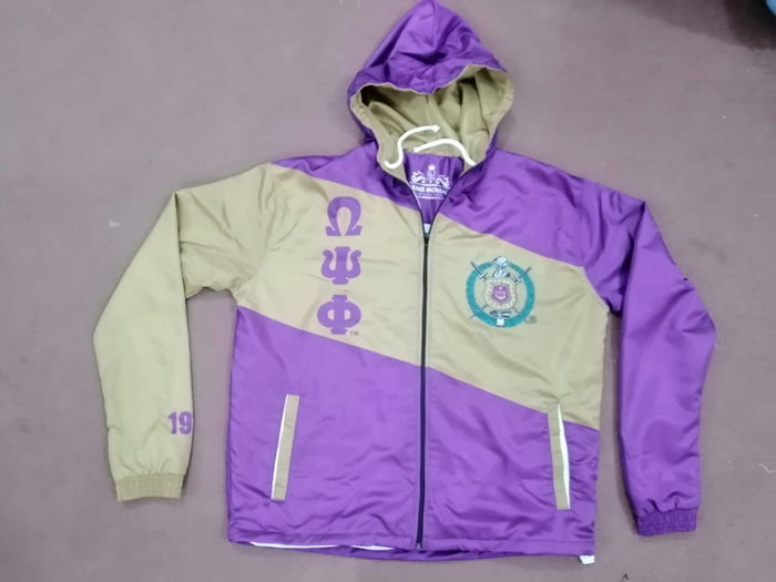 Preorder Omega Psi Phi Striped Windbreaker Jacket