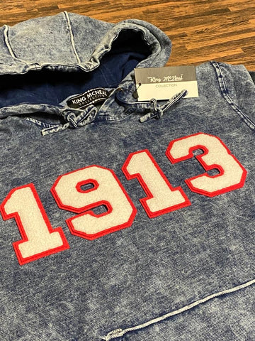 Delta 1913 Chenille Dark Washed Denim Hoodie