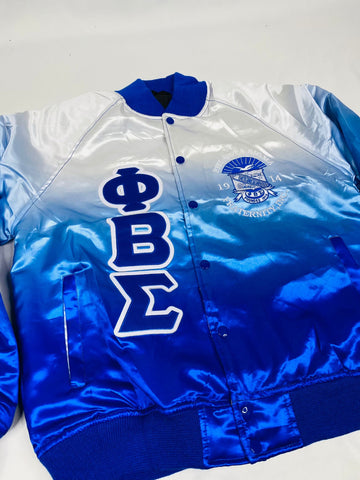 Phi Beta Sigma Faded Bomber Jacket