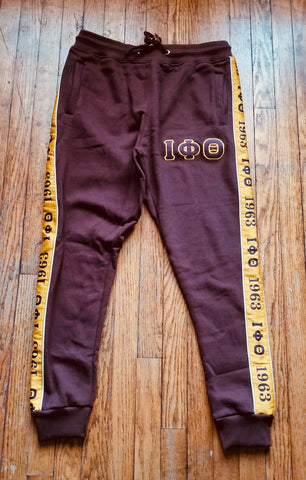 Iota Brown Tapered Sweatsuit Joggers