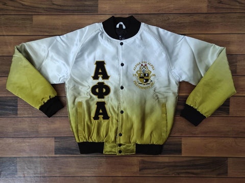 Alpha Phi Alpha Faded Bomber Jacket