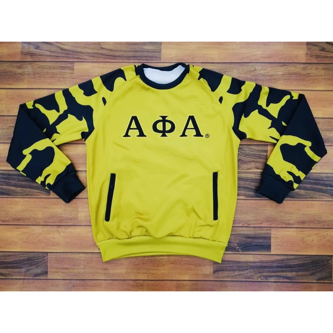 Alpha Phi Alpha Old Gold Crewneck