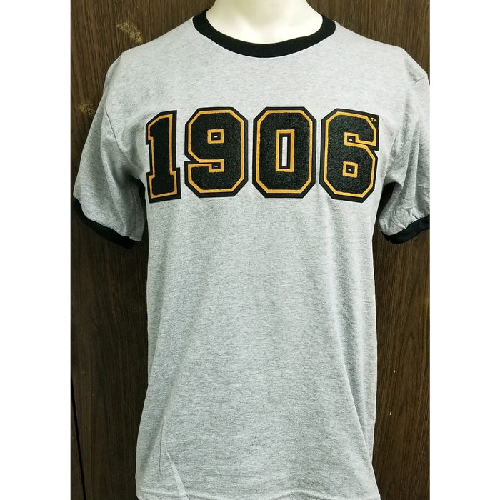 Chenille 1906 grey and black ringer t shirt