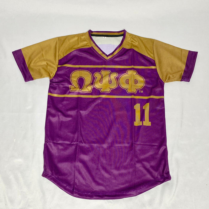 Purple Omega Psi Phi Baseball Jersey