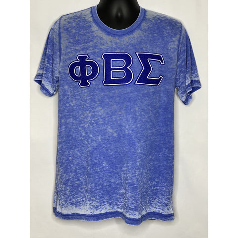 Chenille Sigma acid wash blue t-shirt