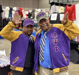 Omega Psi Phi Fleece Letterman Jacket