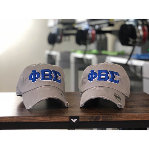 Grey Phi Beta Sigma dad hat