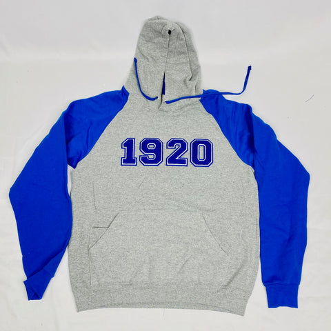 1920 Grey Zeta Phi Beta Pocket Hoodie