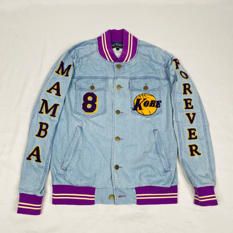 Custom Kobe Denim Bomber Jacket