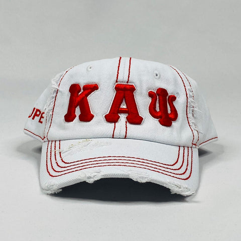 Kappa White Denim Dad Hat