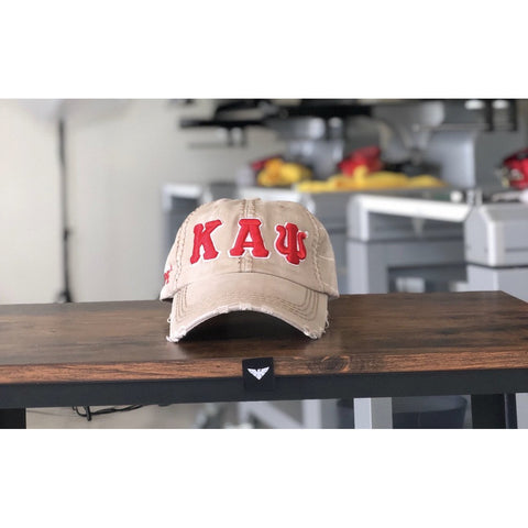 Kappa Alpha Psi Khaki Denim Dad Hat