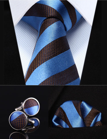 Gentleman's Swag Ties Silk Tie, Pocket Square & Cufflink Set