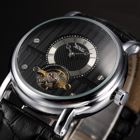 Gentleman's Swag Watches Black Men's Mechanical Wristwatch