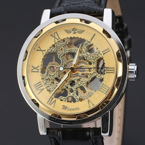 Gentlemans Swag Watches 2017 Vintage Skeleton Mechanical Wrist Watch