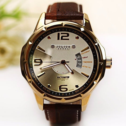 Gentlemans Swag Watches Julius Leather Quartz Watch