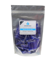 50 Pack of 5 Gram Blue Indicating Silica Gel Packets Desiccants and Dehumidifiers
