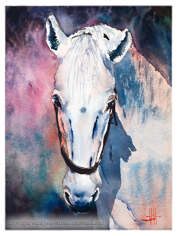 The Art of Ward Jene Stroud - Weekly Vlog #4 The White Mare