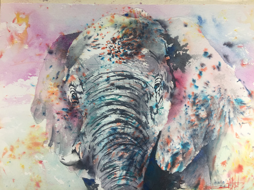 The Art of Ward Jene Stroud - Weekly Vlog #1 Brusho Elephant!