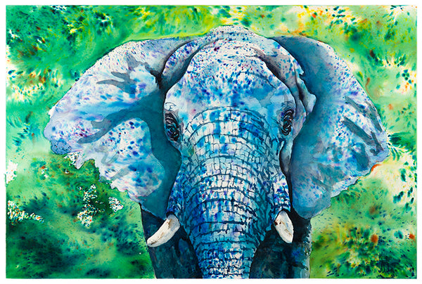 The Blue Elephant *Fine Art Prints