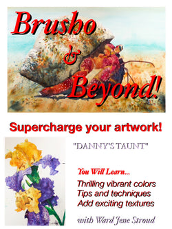 "DVD -Brusho and Beyond - Painting with Ward Jene Stroud ""Danny's Taunt"" Iris"