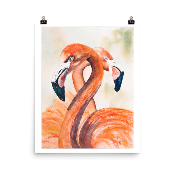 Flamingos Valentine *Fine Art Prints