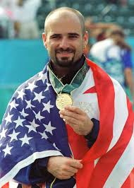 Agassi wins gold medal head band