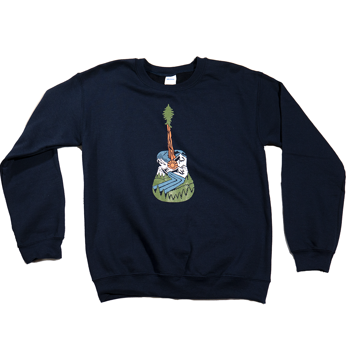 Forest Guitar - Atomic Child Dark Navy Crew Neck Sweatshirt - B Fresh