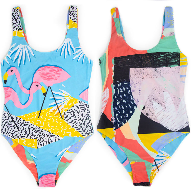 Wacka Flocka Flamingos Swimwear